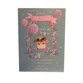 Large Pug Birthday Card