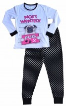 Girls Most Wanted Pug Pj Set