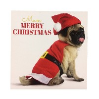 Pug Mum Christmas Card