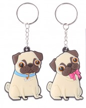 Pugs & Kisses Keyrings