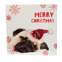 Sleeping Pug Christmas Card