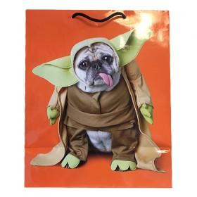 Large Star Wars Pug Gift Bag Yoda & Darth On Each Side