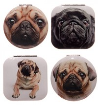 Pug Compact Mirror (Available in 4 designs)