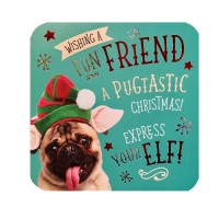 Pug Friend Christmas Card
