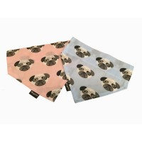 Wagytail Pug Print Bandanas (Available in 2 colours)