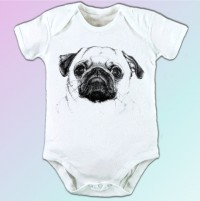 White Sketched  Baby Grows