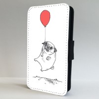 Cute Balloon Pug iPhone Cases (All iPhone models