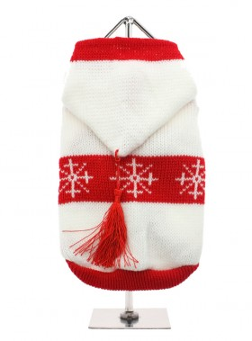 White & Red Snowflake Christmas Sweater