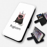 Black Pug Unicorn iPhone Case (For all models)