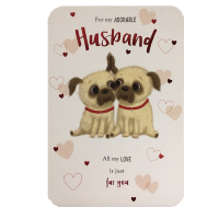 Large Adorable Husband Valentines Card