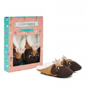 Cosy Friends Pug Slippers In Pug Gift Box (M/L)