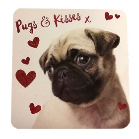 Pugs & Kisses Valentines's Day Card