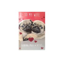 Pug Wife Valentines Card