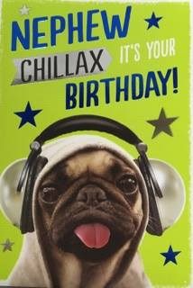 Large Nephew Birthday Card