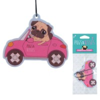 Pug In Car Strawberry Air Freshener