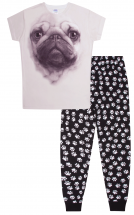 Girls 3D Pug Pj Set