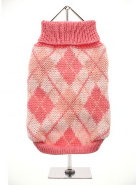 URBAN PUP PINK ARGYLE SWEATER
