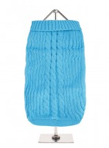 URBAN PUP BLUE CABLE   SWEATER