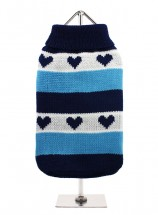 URBAN PUP BLUE HEART  SWEATER
