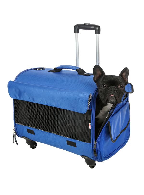 Blue Pet Carrier | I Love Pugs