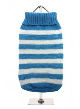 URBAN PUP BLUE & WHITE STRIPED SWEATER