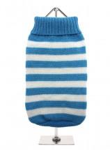 URBAN PUP BLUE & WHITE STRIPED SWEATER