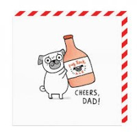 Cheers Dad Blank Card By Gemma Correll