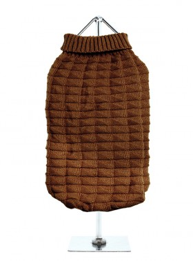 URBAN PUP CHOCOLATE RIBBED  SWEATER