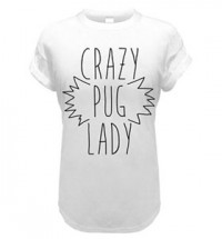 Crazy Pug Lady Kids T Shirt