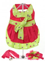 URBAN PUP HOT PINK POLKA DOT DRESS