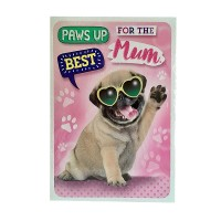 XXXL Pug Mothers Day Card