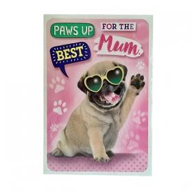 XXXL Pug Mothers Day Card