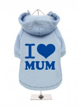 I Love Mum Blue Fleece Lined Hoodie (Available in 4 colours)