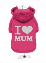 I Love MumPink Fleece Lined Hoodie