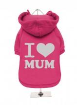 I Love MumPink Fleece Lined Hoodie