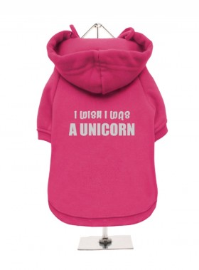 I Wish I Was A Unicorn Fleece Lined Hoodie (Available in 3 colours)
