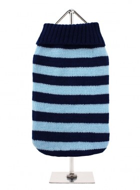 URBAN PUP NAVY & BLUE STRIPED SWEATER