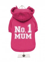 Pink Number 1 Mum Fleece Lined Hoodie