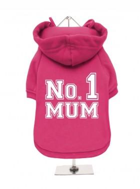 Pink Number 1 Mum Fleece Lined Hoodie