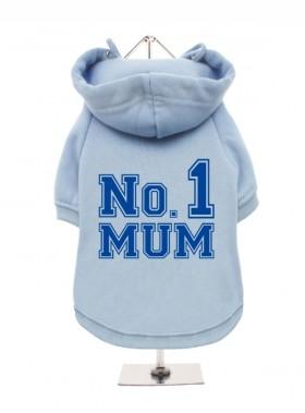Blue Number One Mum Fleece Lined Hoodie