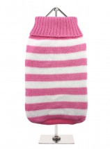URBAN PUP PINK & WHITE STRIPED SWEATER