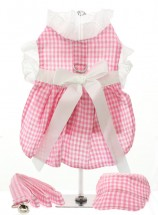 URBAN PUP PINK & WHITE GINGHAM DRESS