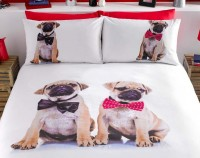 Puppies In Bow Ties  King Size Duvet Set