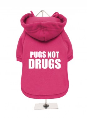 Pugs Not Drugs Fleece Lined Hoodie (Available in 4 colours)