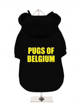 Pugs Of Belgium Fleece Lined Hoodie