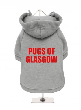 Pugs Of Glasgow  Fleece Lined Hoodie (Available in 5 colours)
