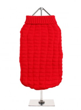 URBAN PUP RED RIBBED  SWEATER