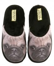 Ladies Pug Slippers