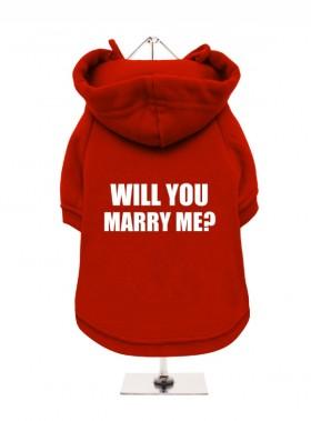 Will You Marry Me Fleece Lined Hoodie