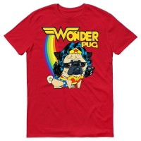 Wonder Pug Unisex T Shirt  (Available in 7 colours)